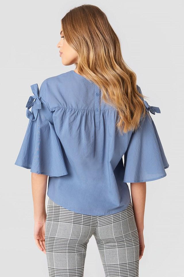 Isa Knot Shirt Stone Blue