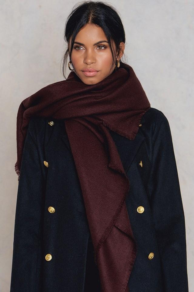 Jenny scarf Marsala