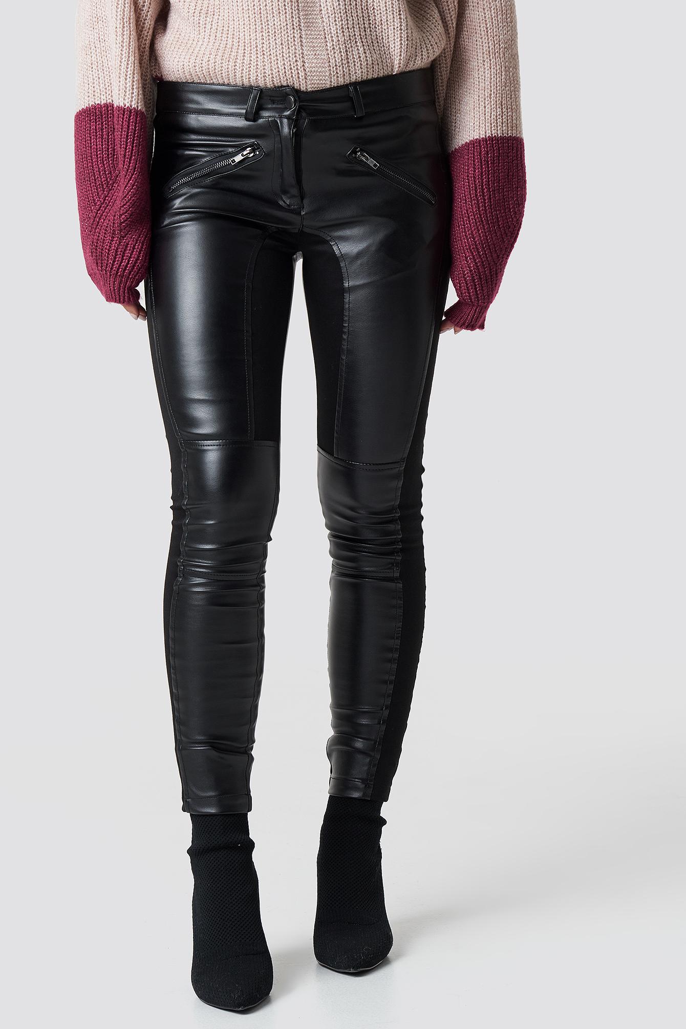 Spodnie ze sztucznej skóry Jiva NA-KD.COM