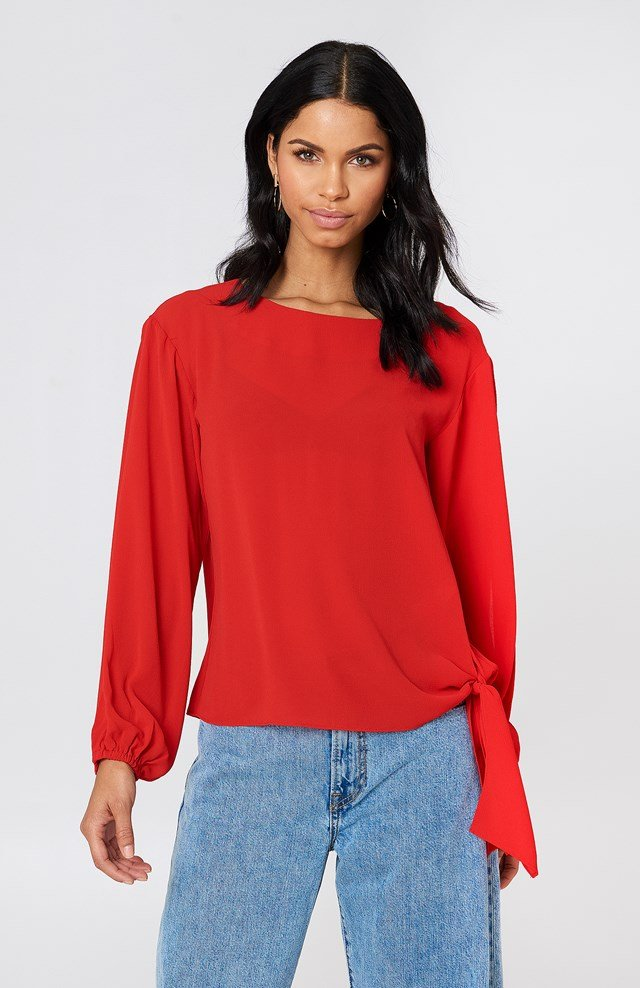 Julia Open Sleeve Red