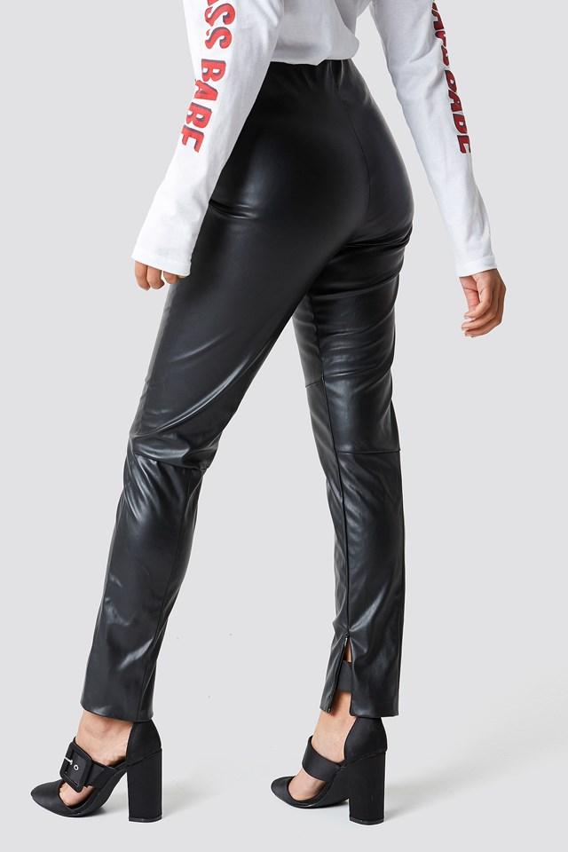 Lakierowane spodnie Kelly Black