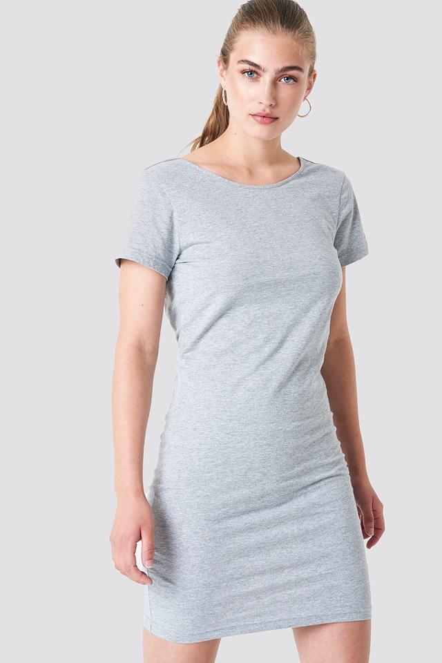 Knot Back Dress Grey