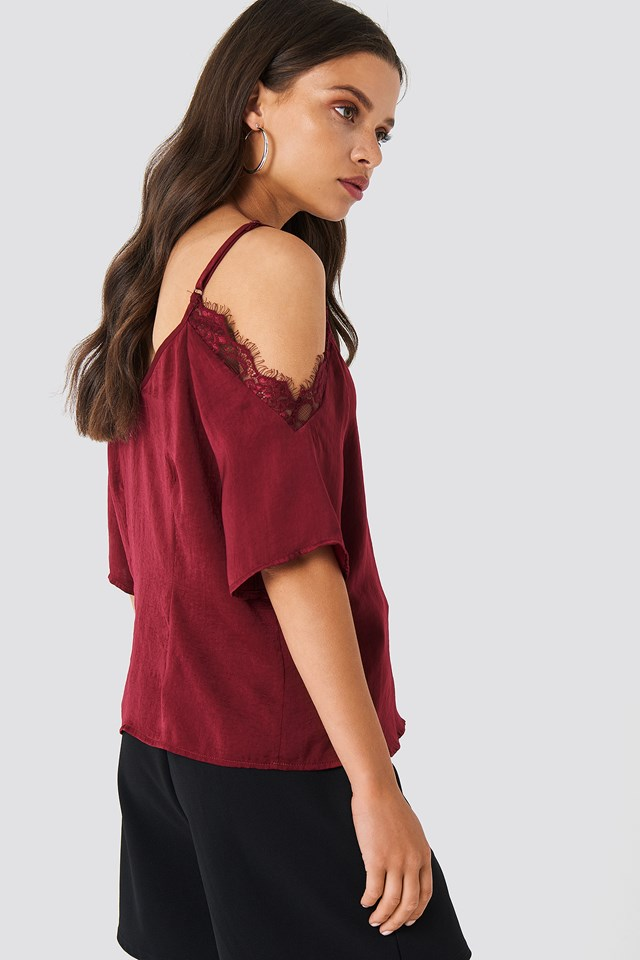 Stine Lace Blouse Wine Red