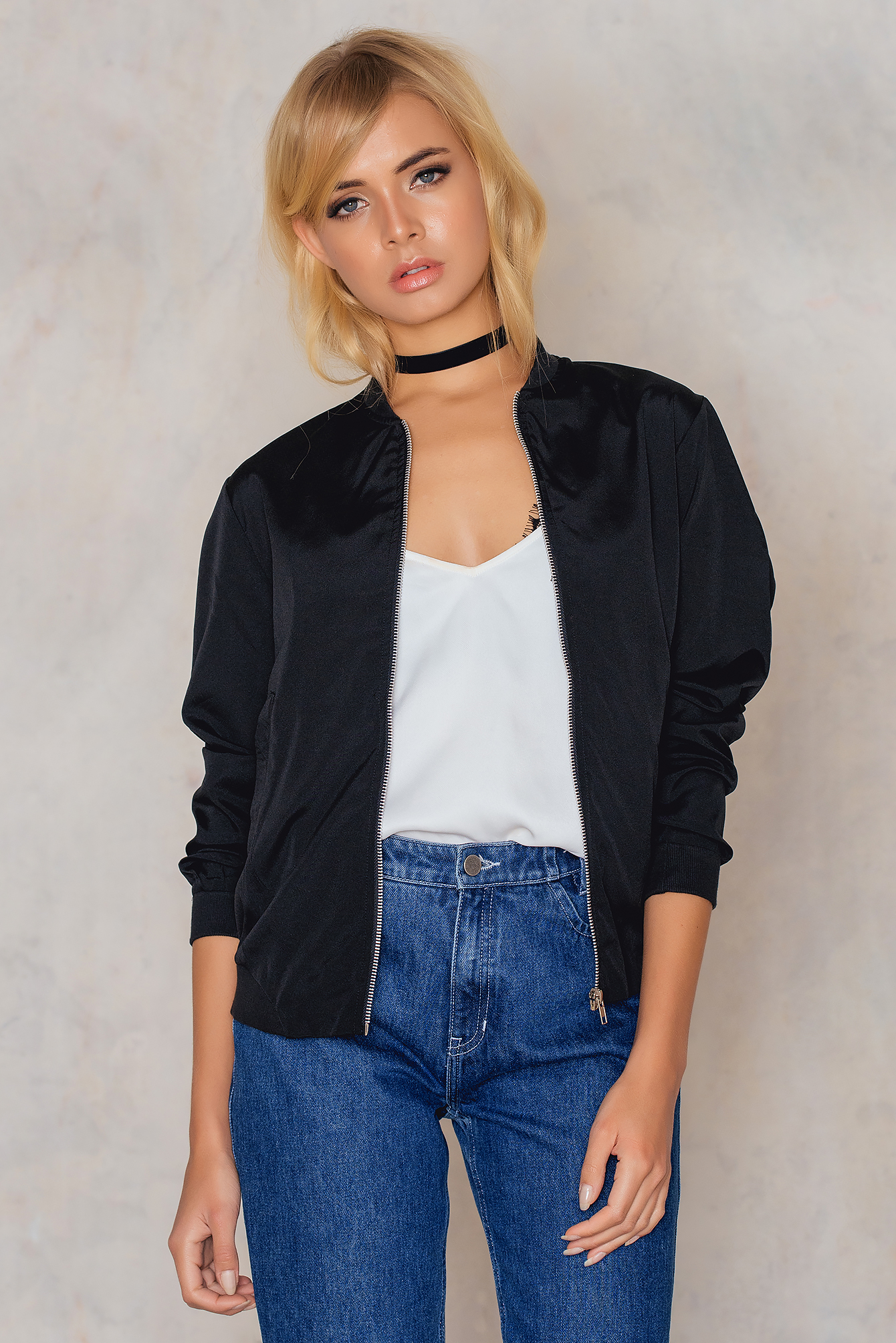 Black Laura bomber jkt