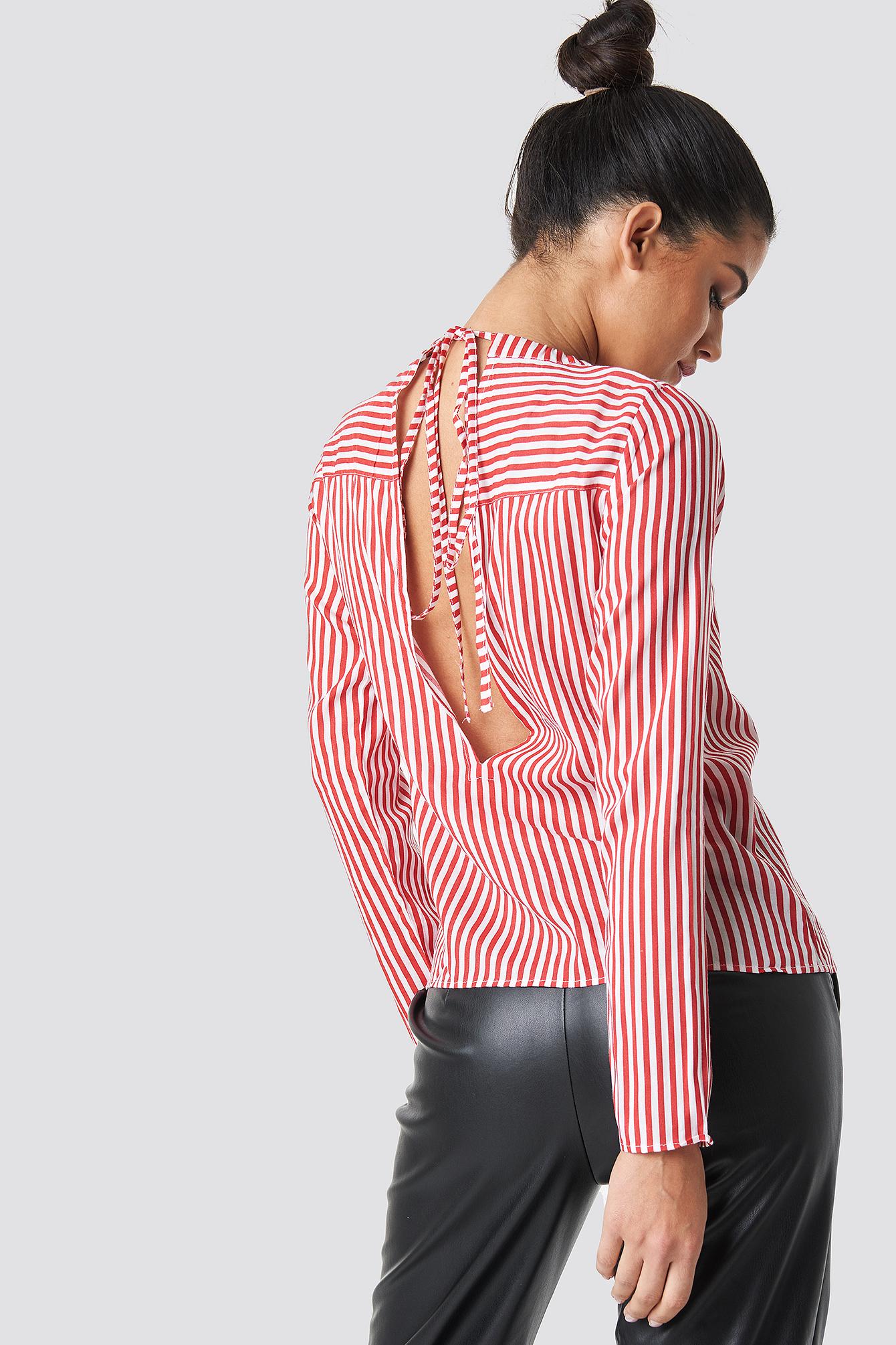 Layla Back Knot Shirt NA-KD.COM
