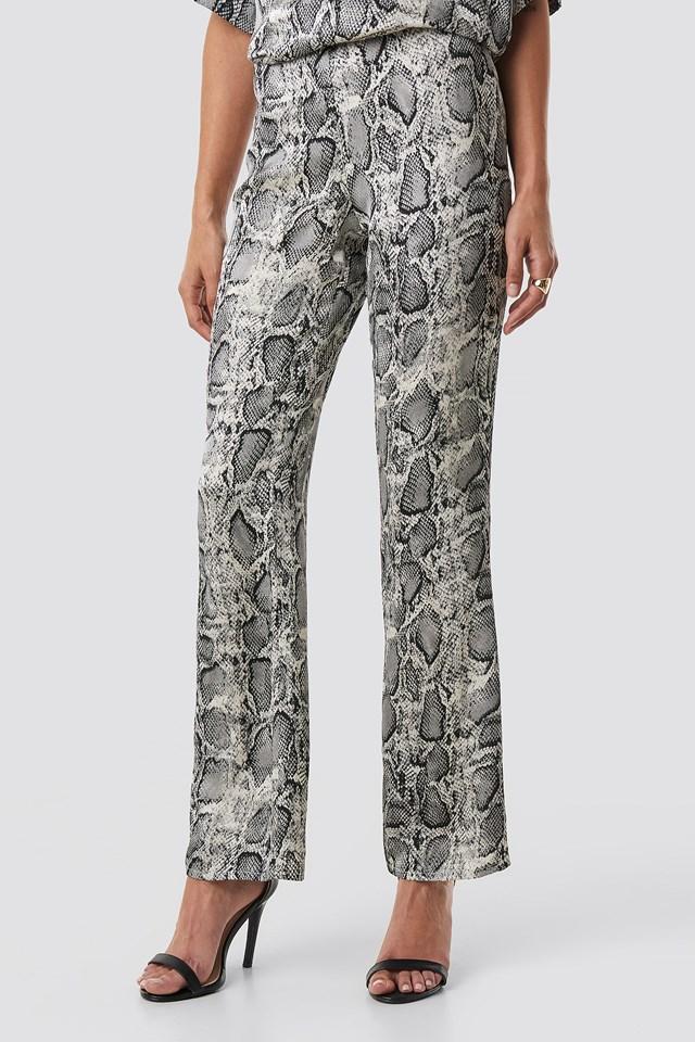 Lea Snake Pant Grey Comb