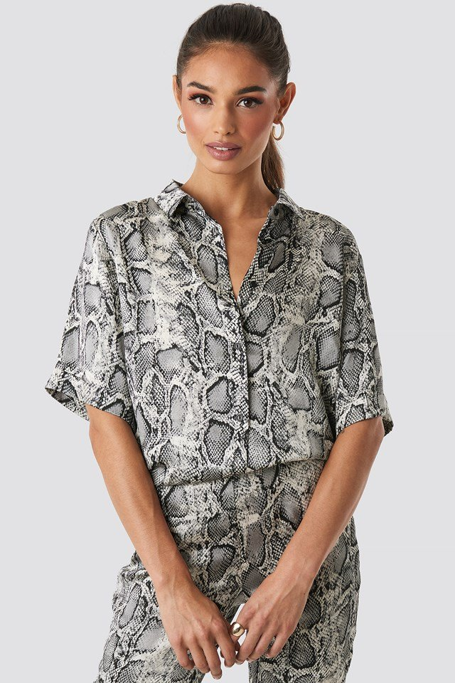 Lea Snake Shirt Grey Comb