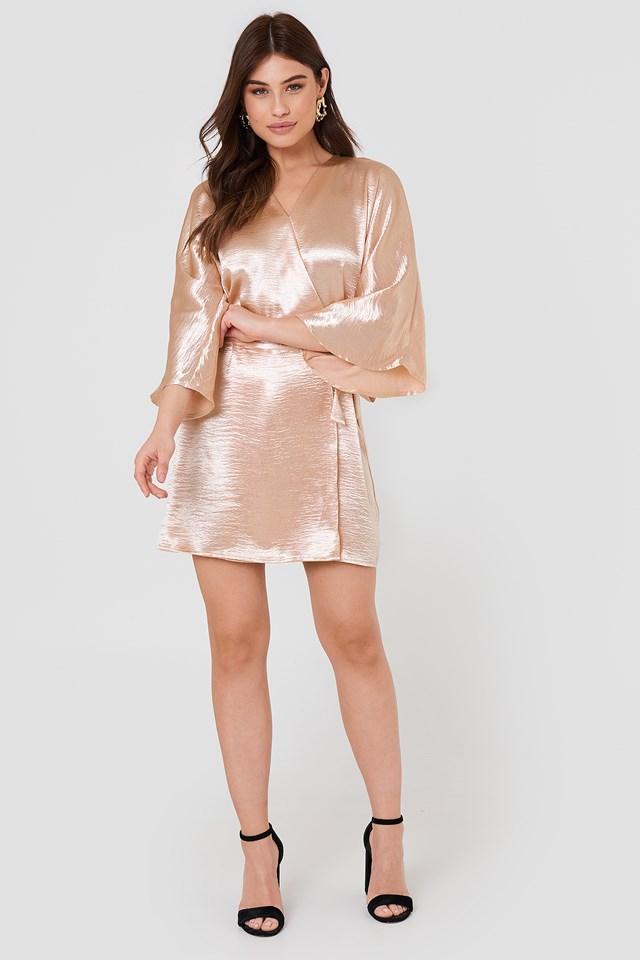 Leja Shiny Dress Pastel Pink