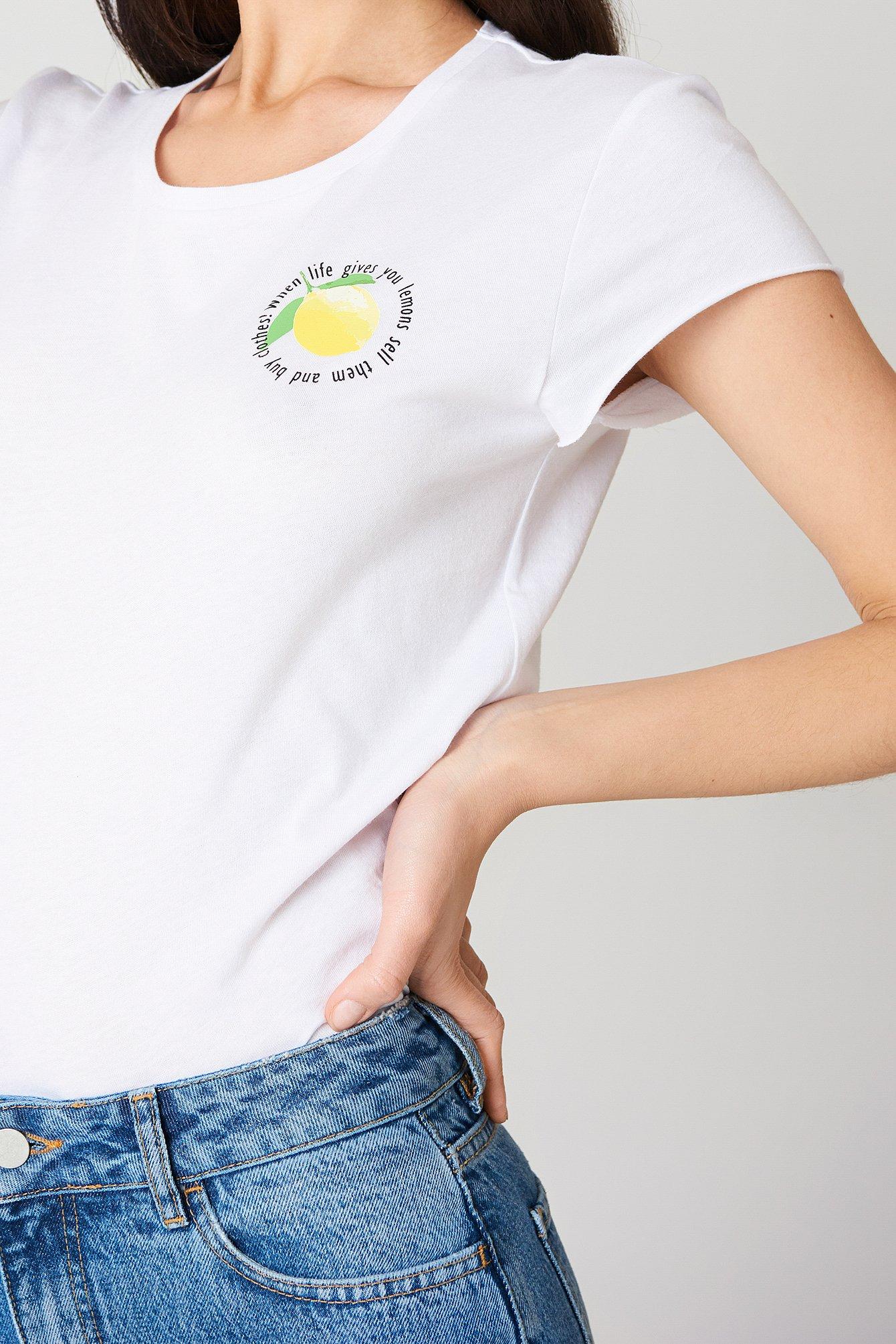 T-shirt Lemon NA-KD.COM