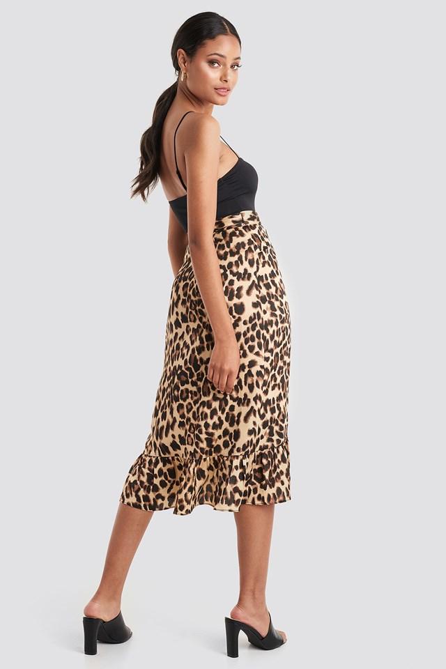 Leo Wrap Skirt Leopard Print