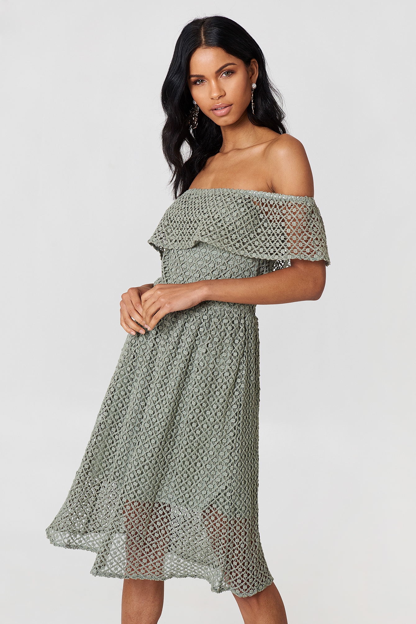 Li Lace Off Shoulder Dress NA-KD.COM