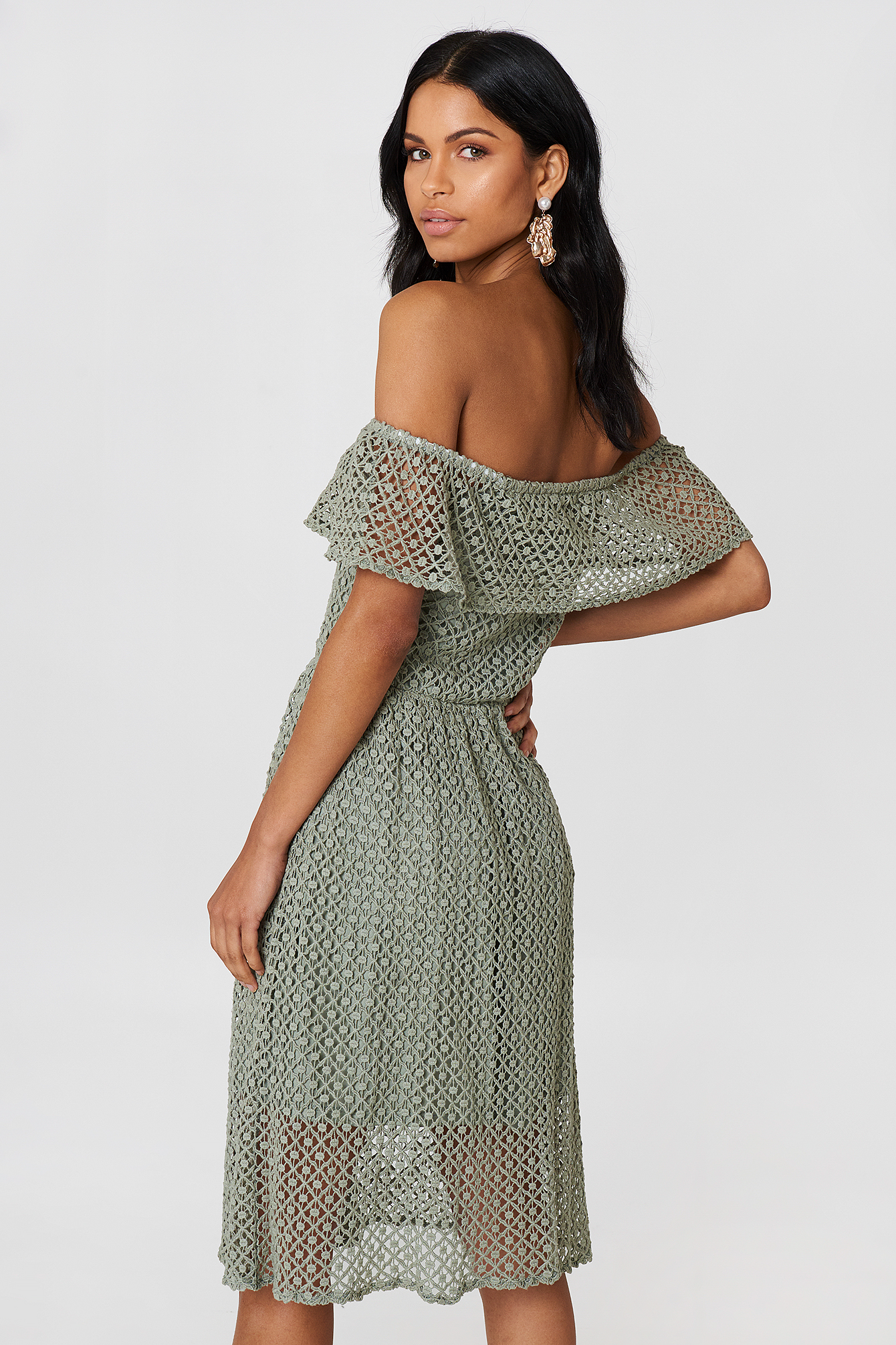 Li Lace Off Shoulder Dress NA-KD.COM