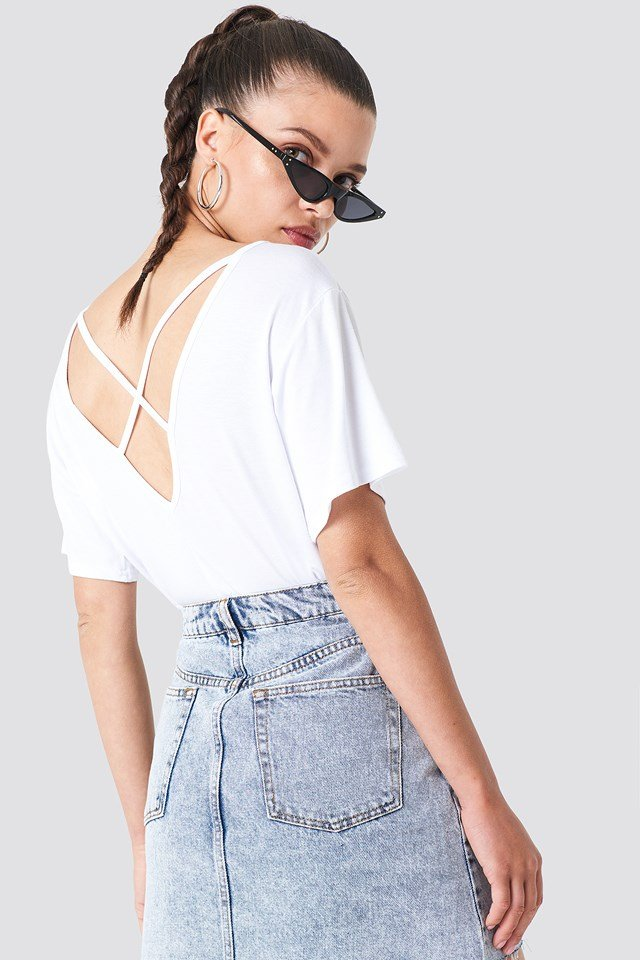 Lilly Cross Back Tee White