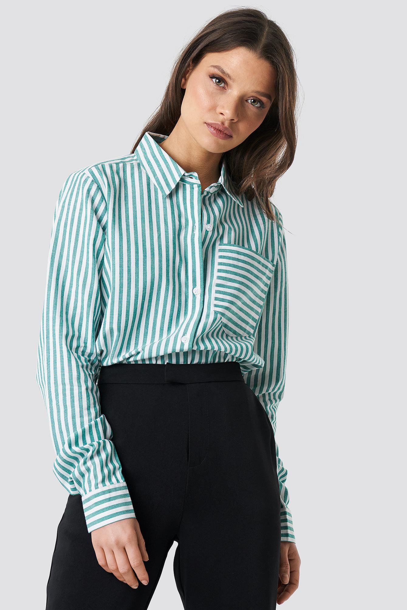 Lina Stripe Shirt NA-KD.COM