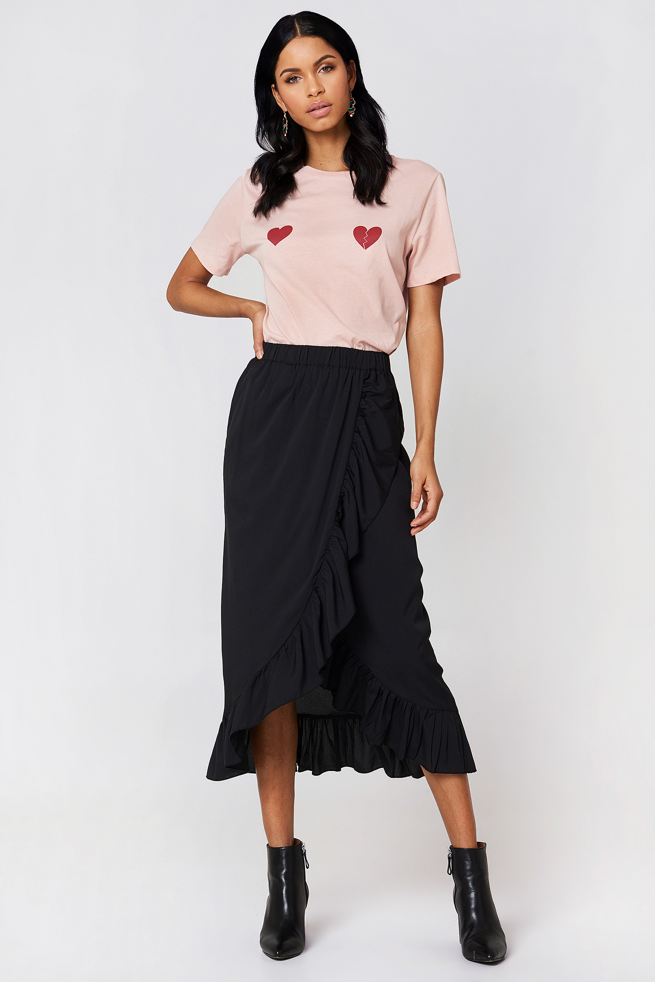 Long Frill Skirt NA-KD.COM
