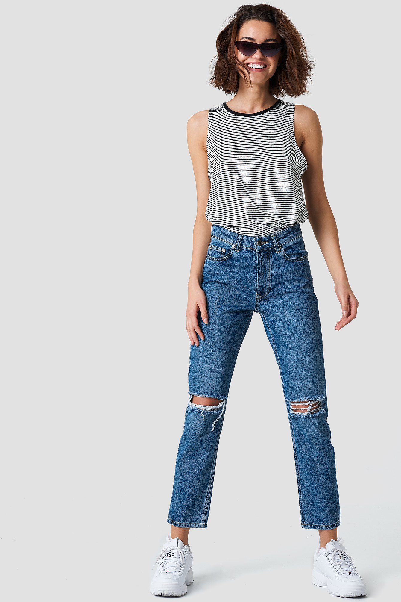 LOUISA DESTROYED JEANS - BLUE