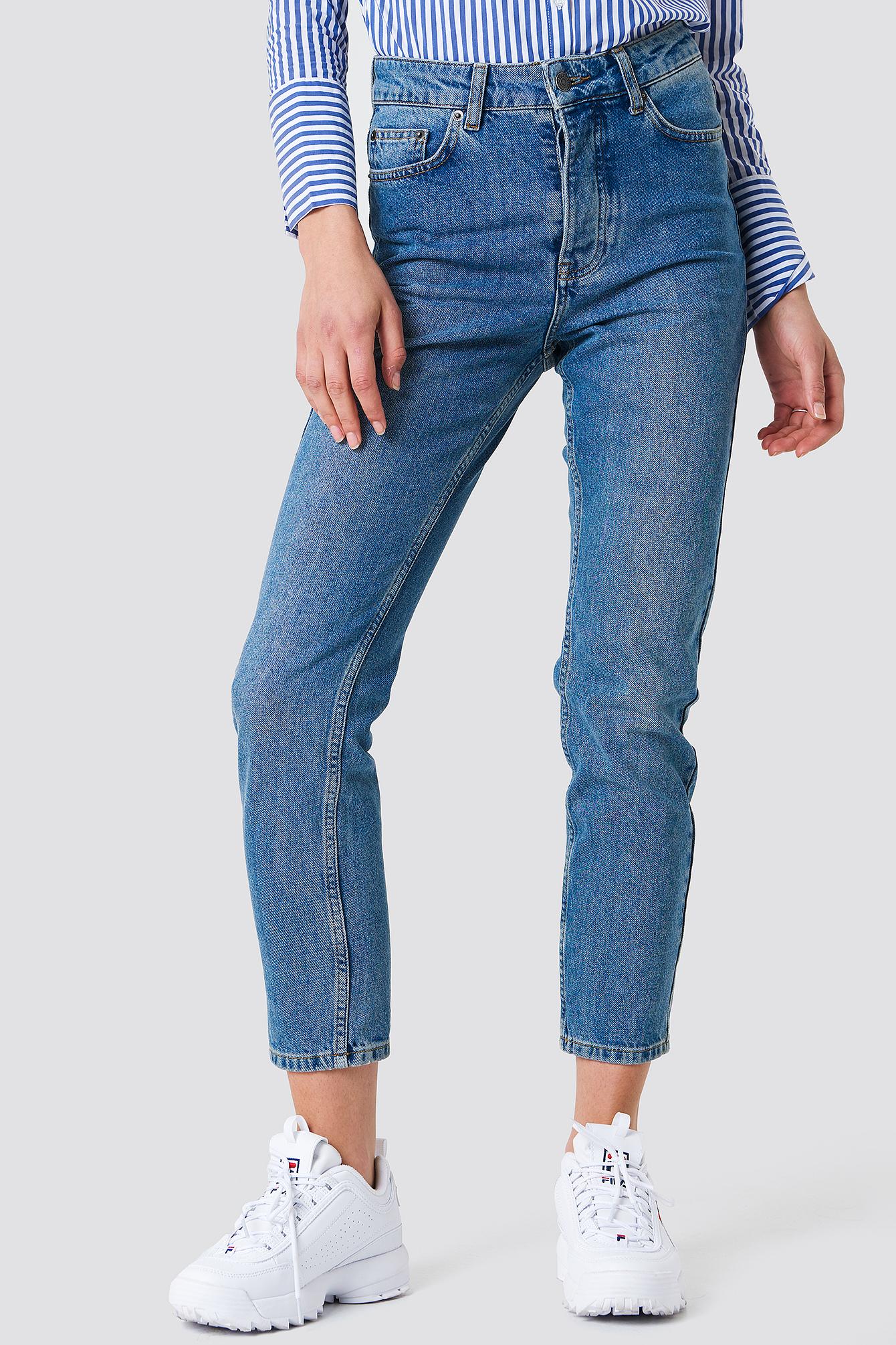 Louisa High Waist Jeans NA-KD.COM