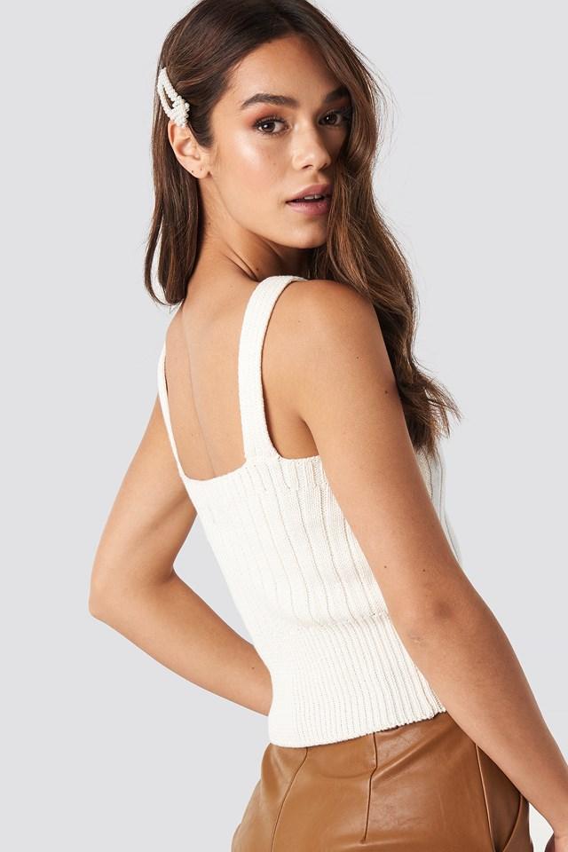 Lova Knit Singlet Off White