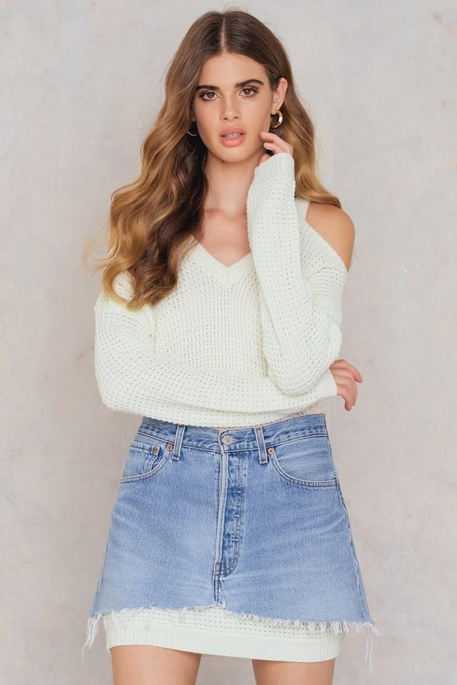 Luna cold shoulder knit NA-KD.COM