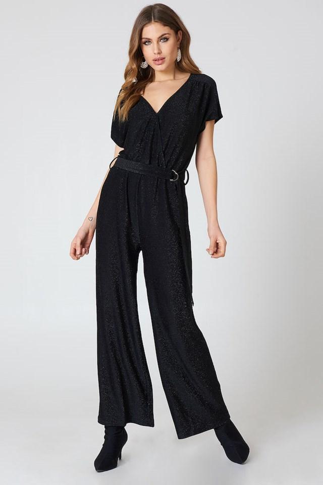 Lurex Jumpsuit Black