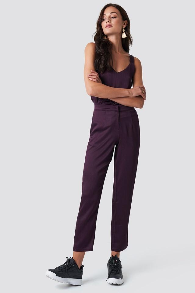 Maci Pant Dark Purple