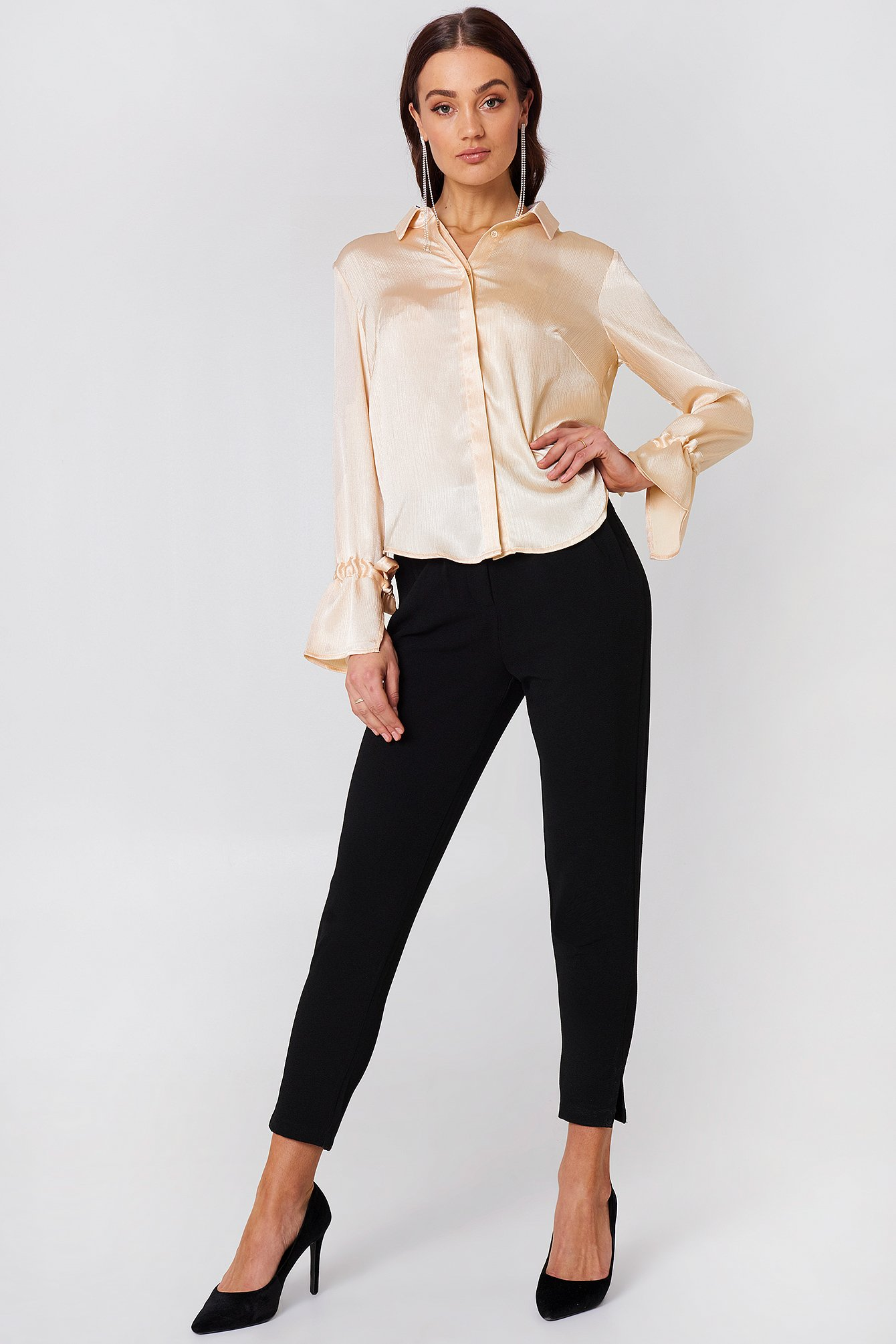 Maci Pleat Shirt NA-KD.COM