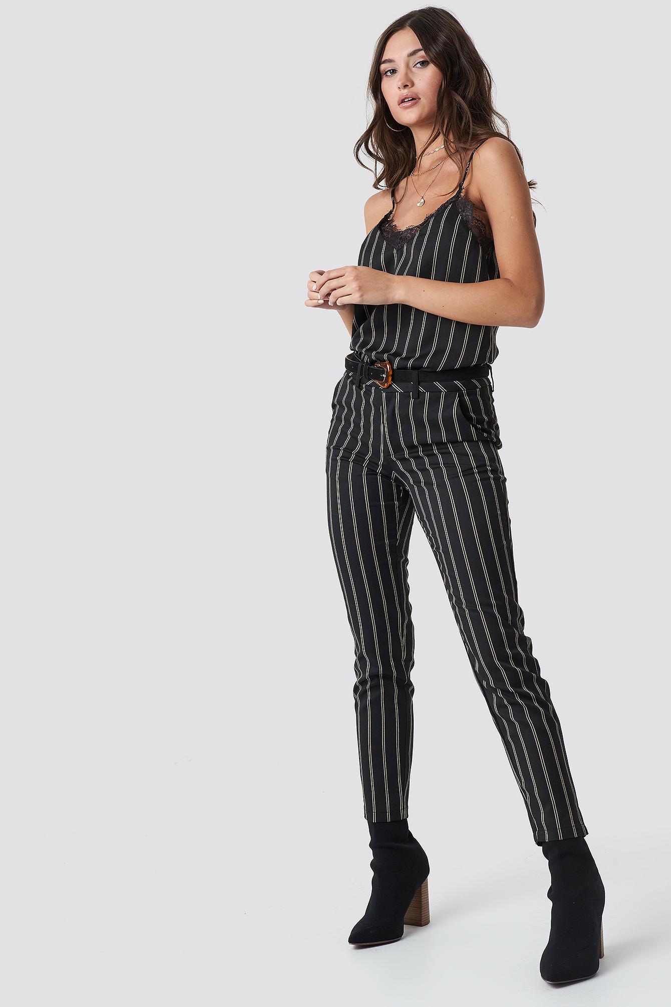 rut&circle -  Malin Stripe Pant - Grey