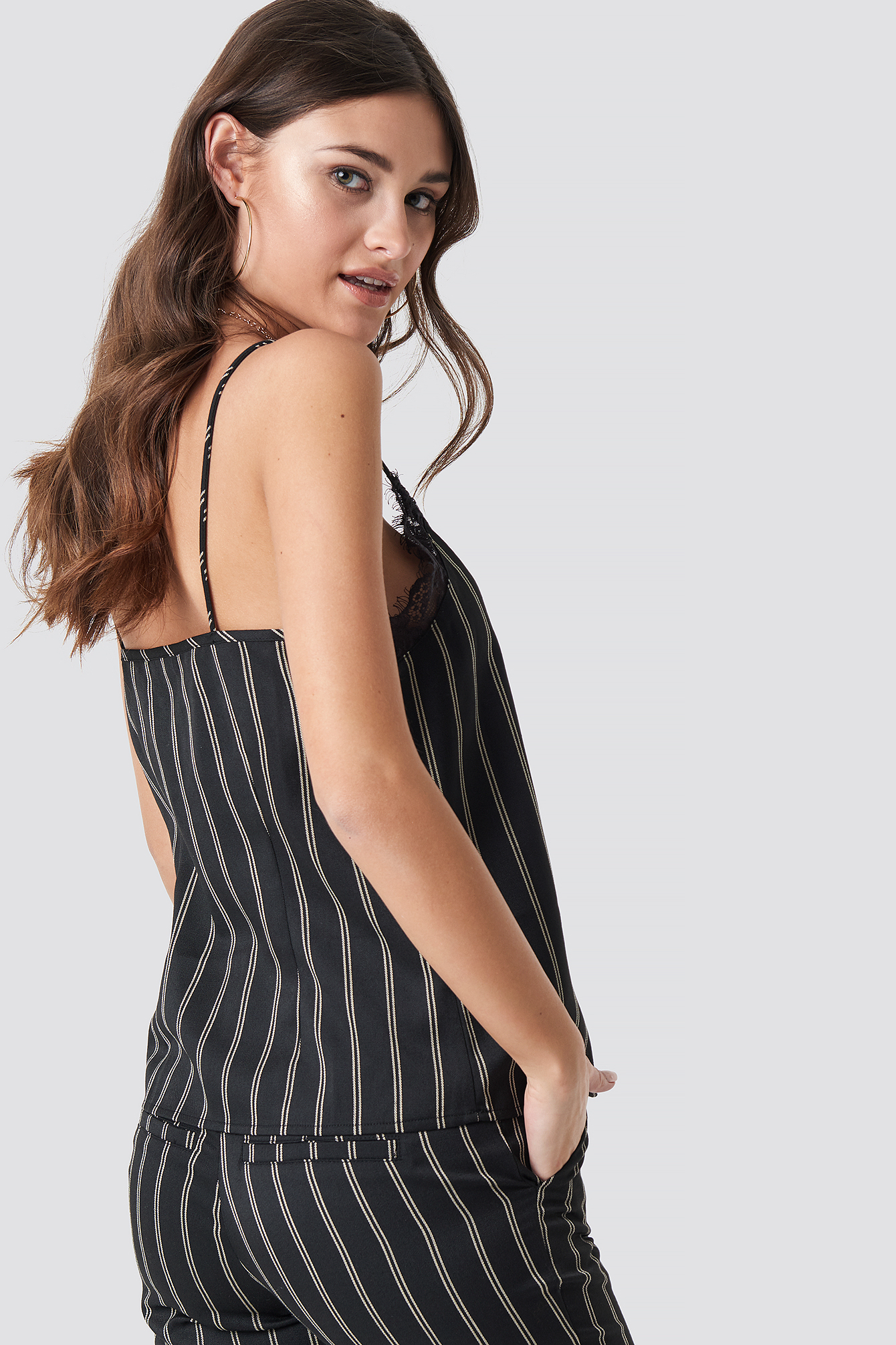 Malin Stripe Singlet  NA-KD.COM