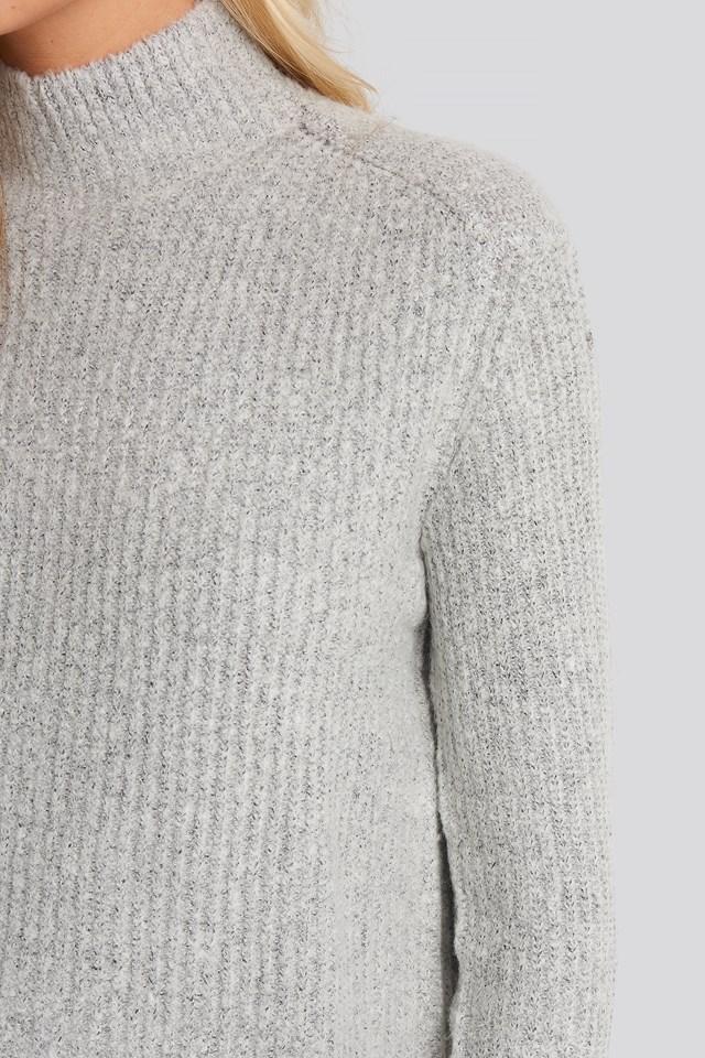 Sweter z dzianiny Marielle Lt Greymelange