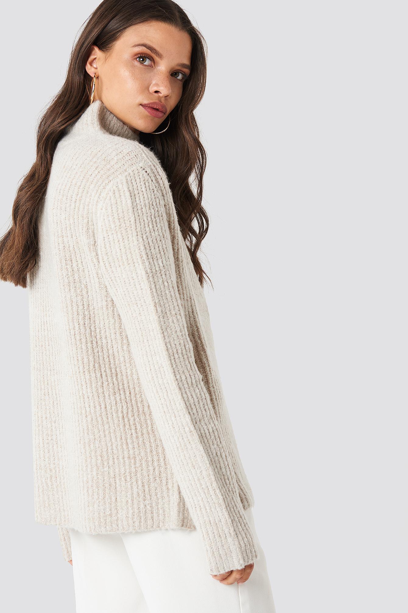 Sweter z dzianiny Marielle NA-KD.COM