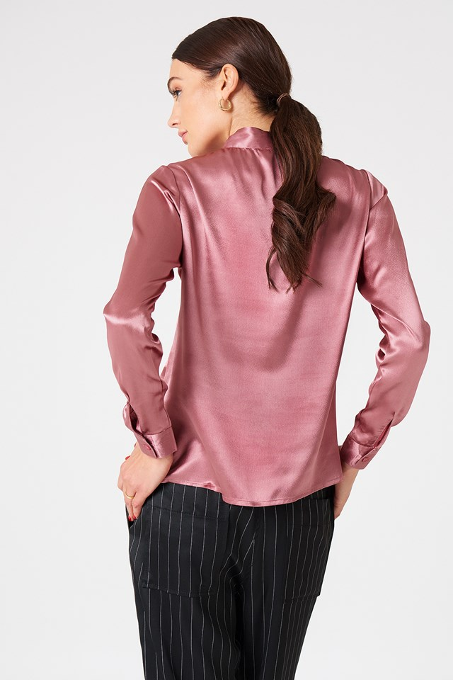 Maya Satin Shirt Rose/Pink