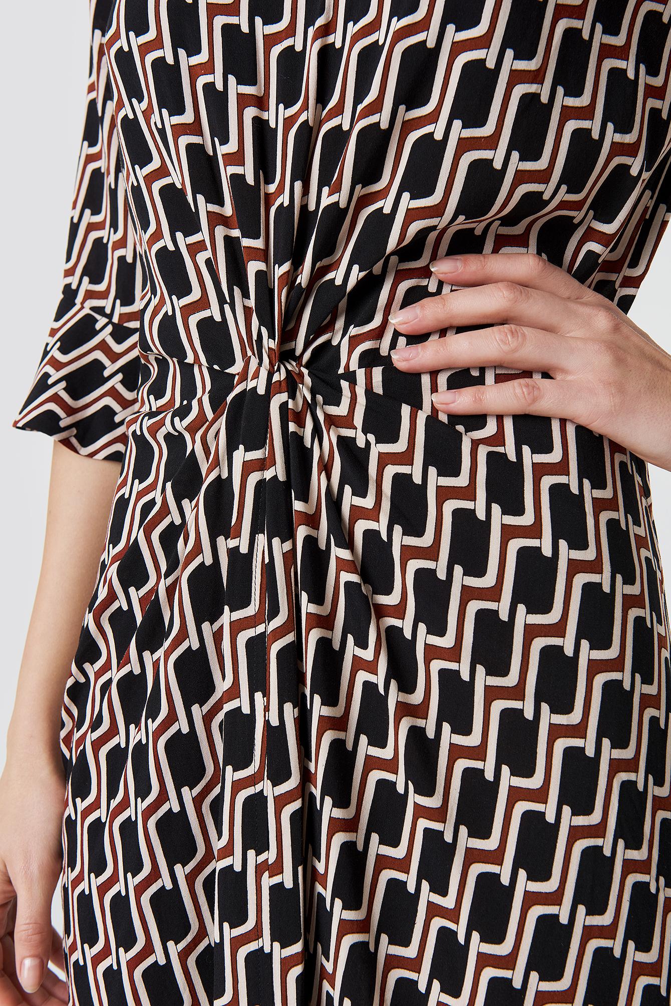 Midi Pattern Dress NA-KD.COM