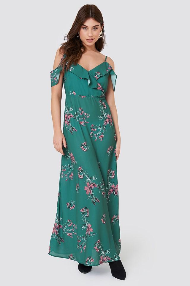Mika Long Dress Green