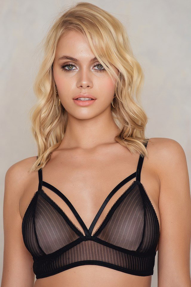 Millan Dot Bra Black Stripe