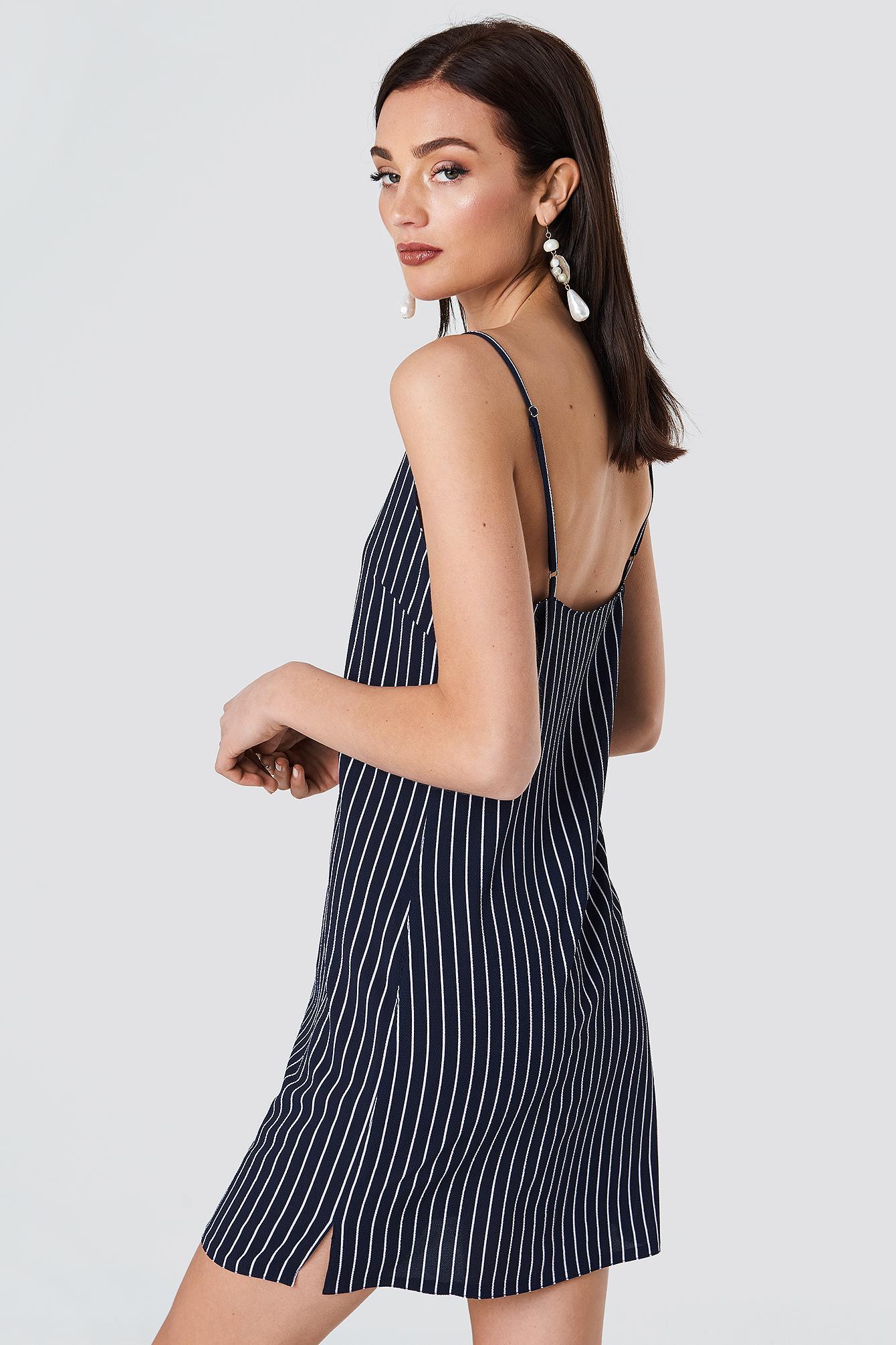 Mira Stripe Dress NA-KD.COM