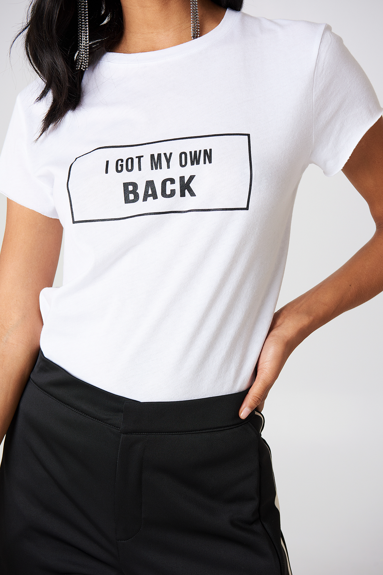White My own back tee