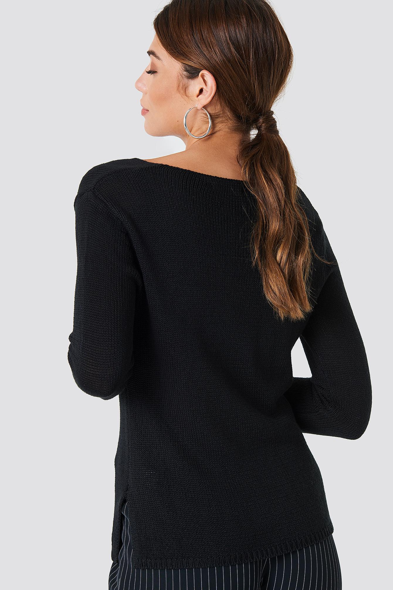 Ninni V-neck Knit NA-KD.COM