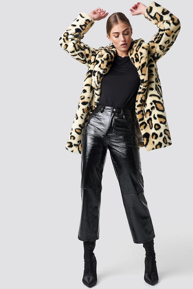 Kurtka ze sztucznego futra Nova Leopard
