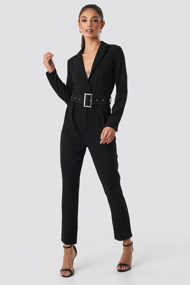 Ofelia Belt Jumpsuit Black