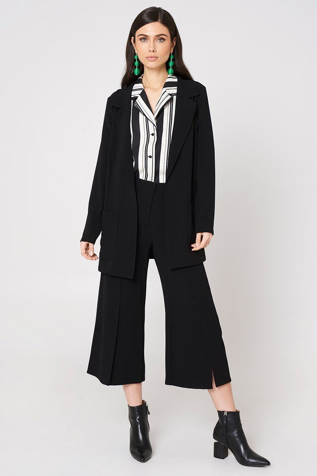 Ofelia Pant With Slit Black