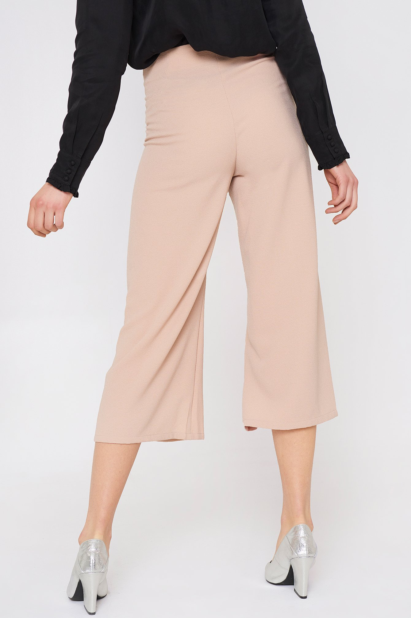 Pastel Pink Ofelia Pant With Slit