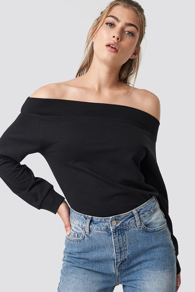 Off Shoulder Sweatshirt Rut&Circle