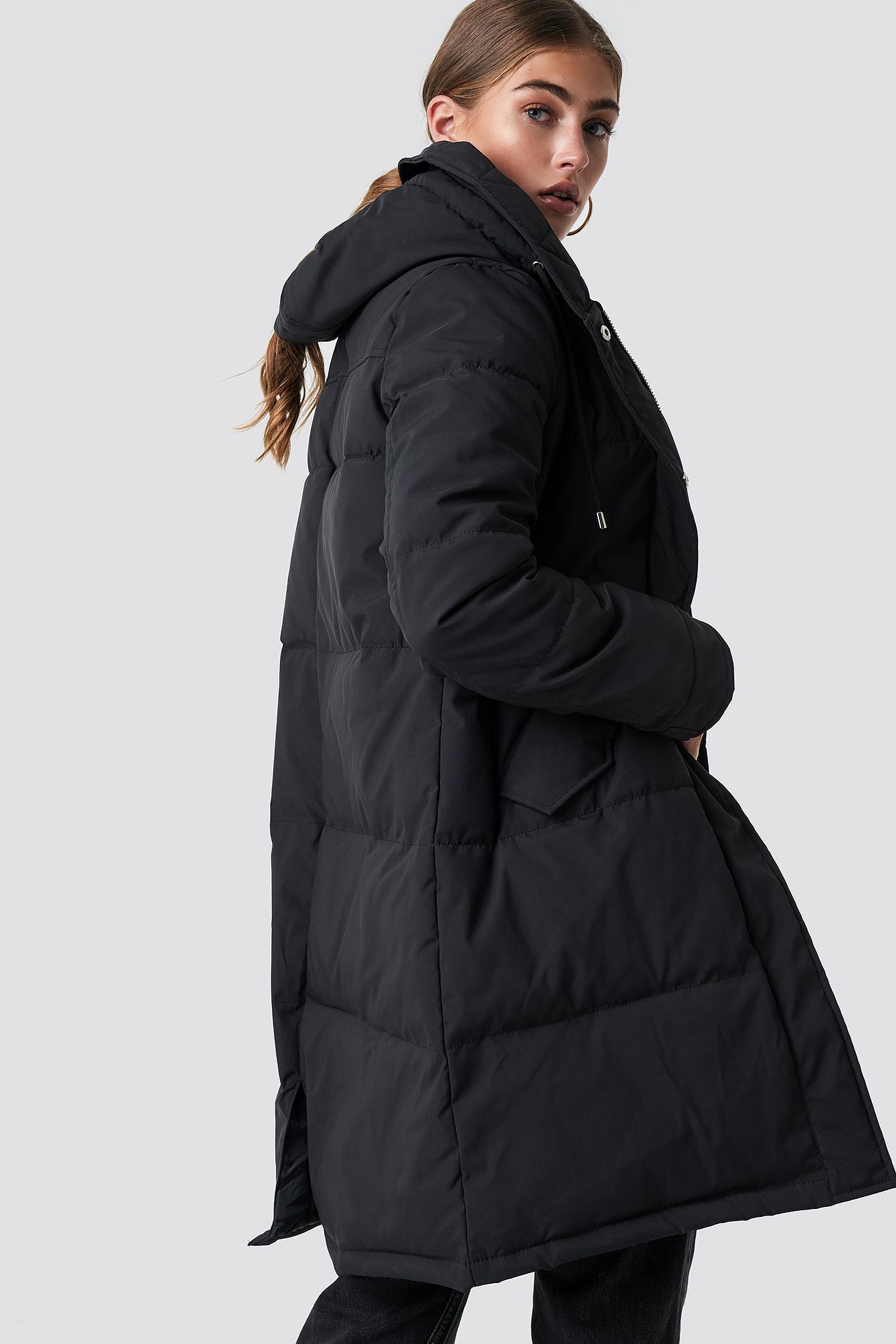 Watowana kurtka z kapturem NA-KD.COM
