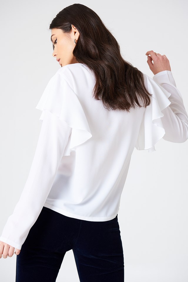 Penny Frill Blouse White