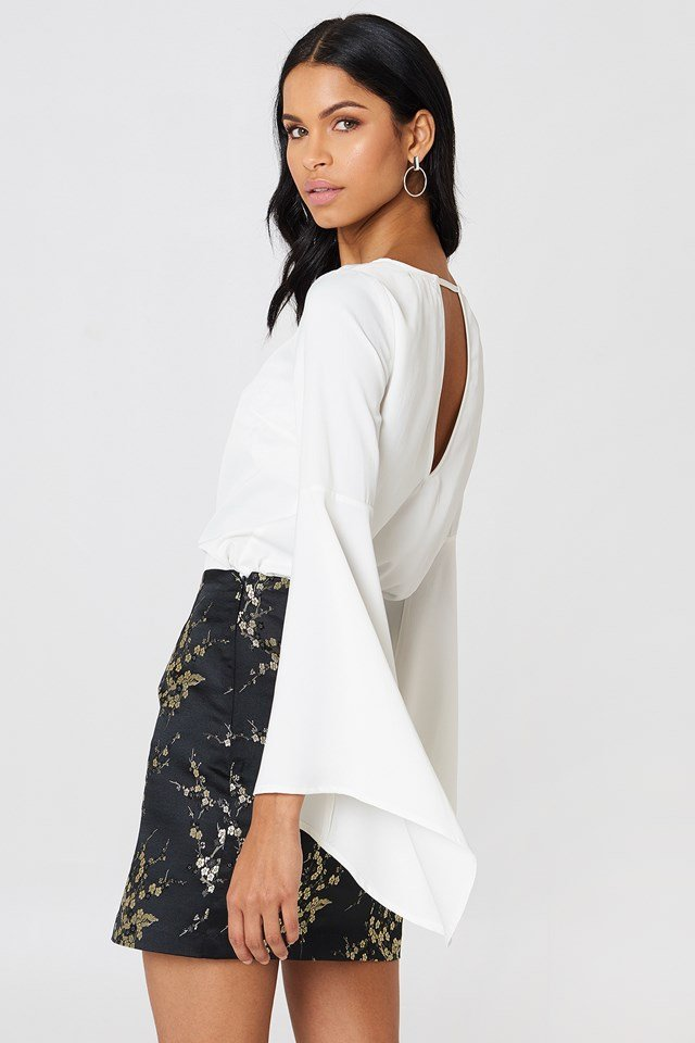 Petra Wide Sleeve Blouse White