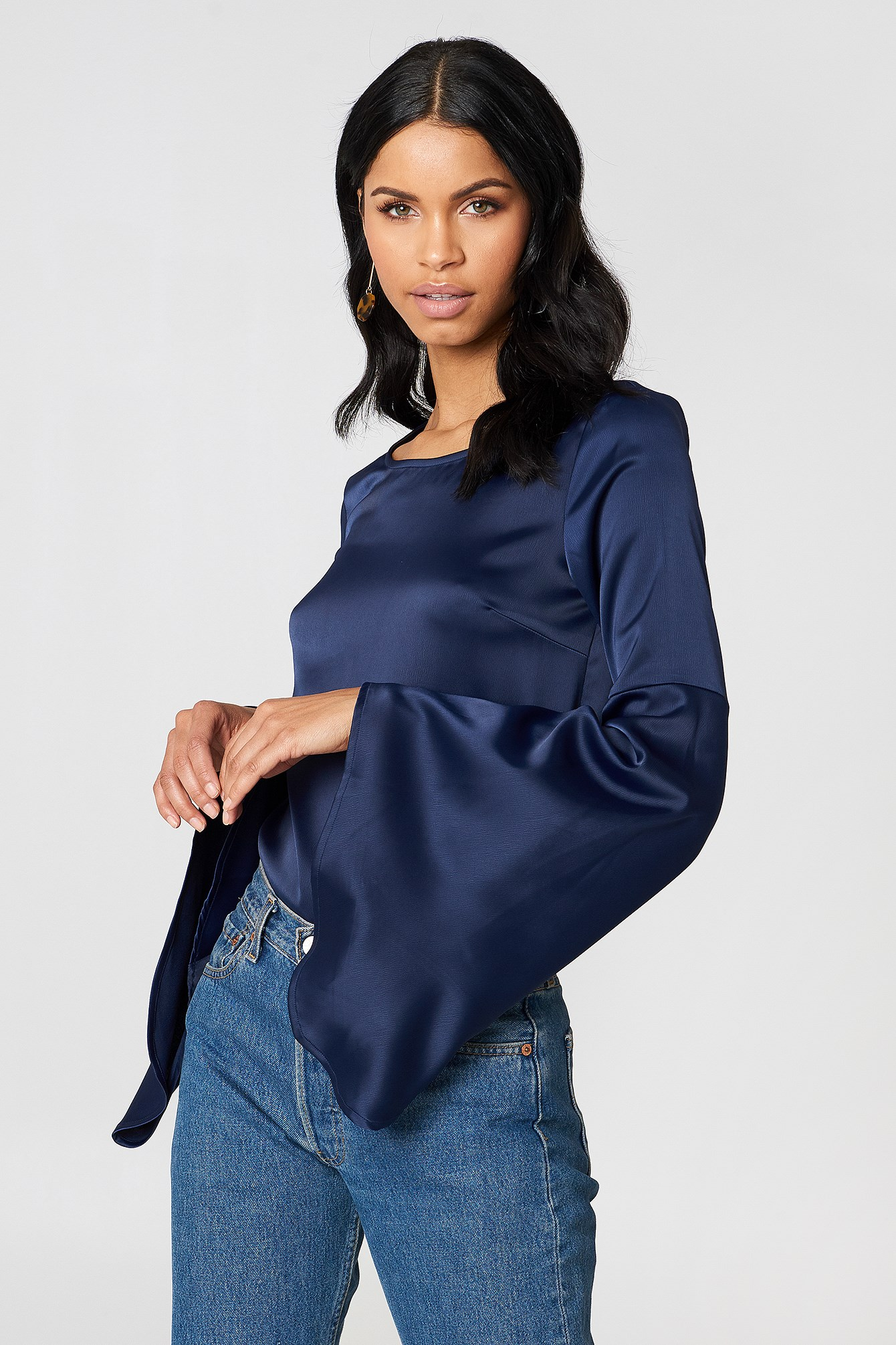 Petra Wide Sleeve Blouse NA-KD.COM
