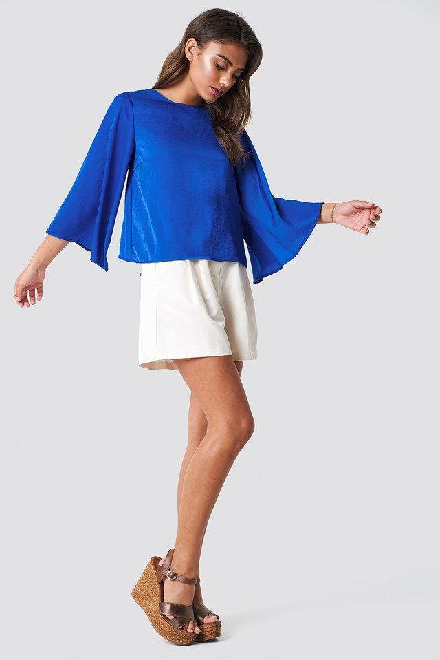 Philippa Blouse Cobalt Blue