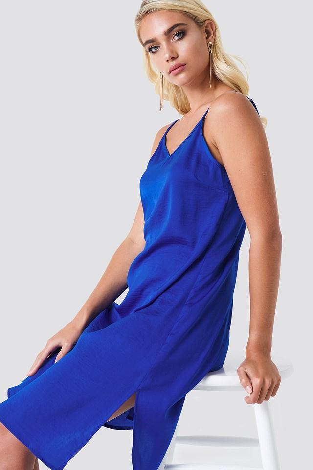 Philippa Strap Dress Cobalt Blue