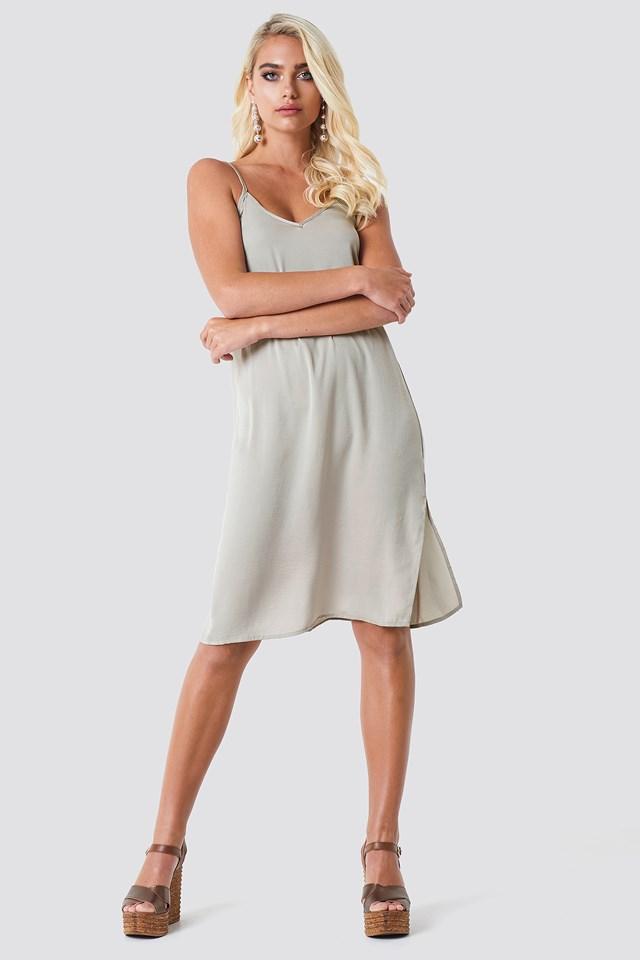Philippa Strap Dress Grey