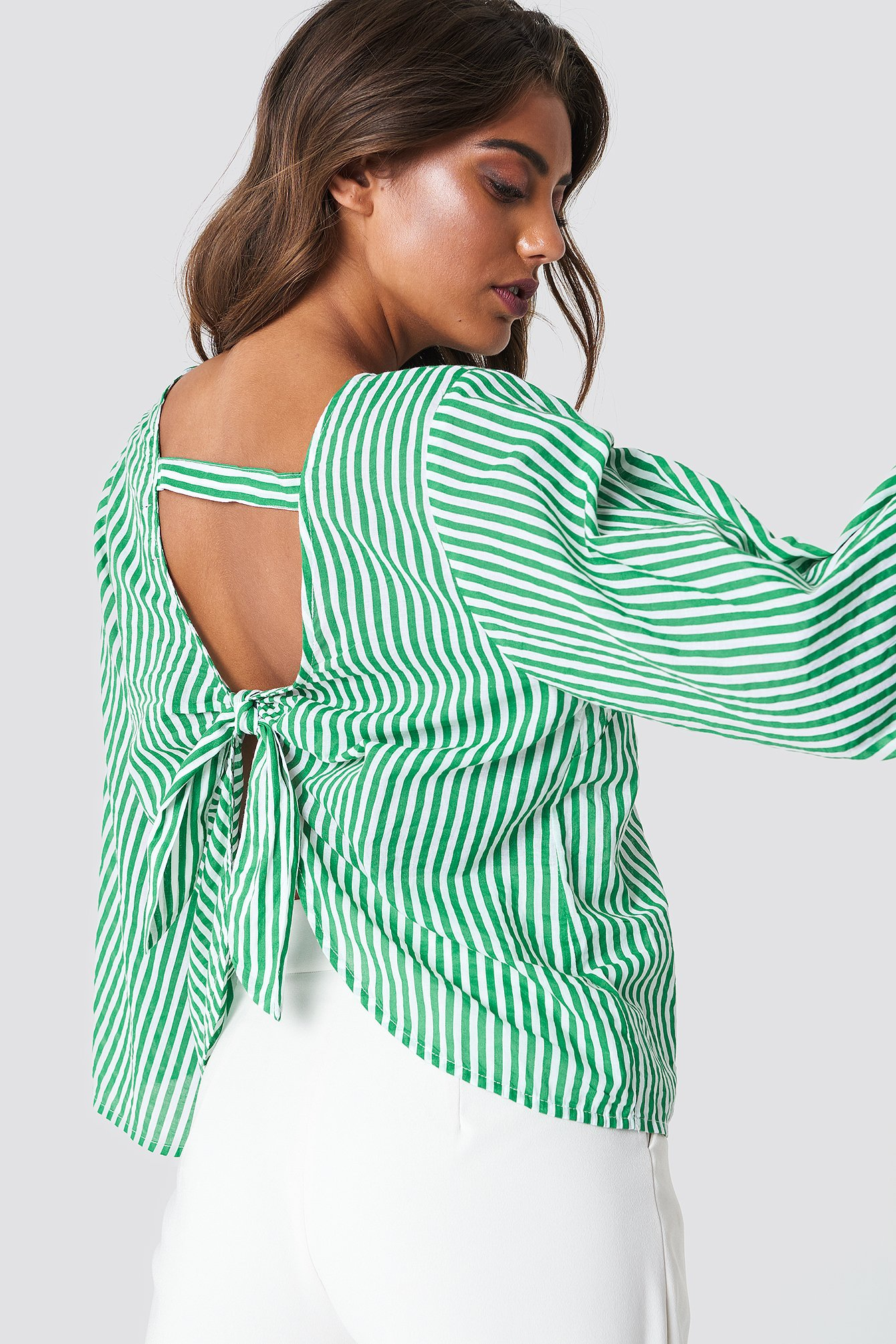 Philippa Stripe Blouse NA-KD.COM